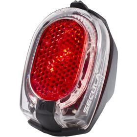 Busch + Müller Secula Światło tylne na baterie przezroczysty do stałego montażu błotnika, red/black